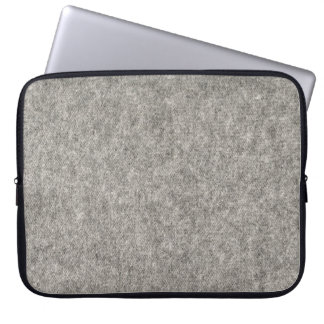 Create your own | Furry grey fabric Laptop Sleeve