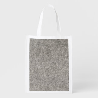 Create your own | Furry grey fabric Reusable Grocery Bag