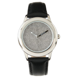 Create your own | Furry grey fabric Watch