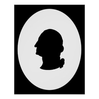 Create Your Own George Washington Silhouette Poster