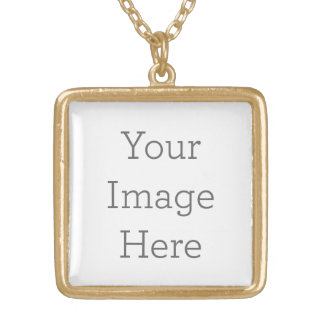Create Your Own Gold Finish Square Necklace