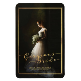 Create Your Own Gorgeous Bride Elegant Typography Magnet