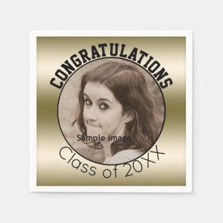 Create Your Own Graduation   Personalized Photo Paper Napkin