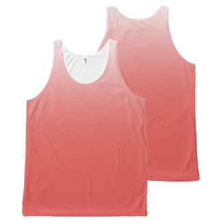 Create your own | grenadine to white All-Over-Print tank top
