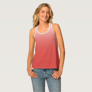 Create your own | grenadine to white tank top