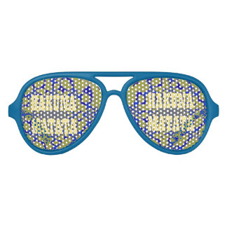 Create Your Own Hakuna Matata Blue Party Shades