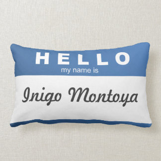 """Create Your Own """"Hello, My Name Is..."""" Pillow! Lumbar Pillow"""
