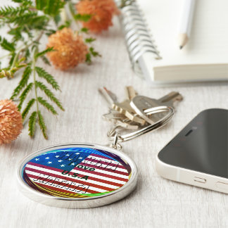 Create Your own I LOVE USA Keychain