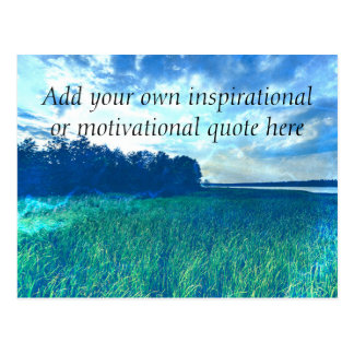 Create your own Inspirational/Motivational quote Postcard