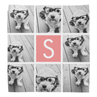 Create Your Own Instagram Collage Custom Monogram Bandana