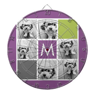 Create Your Own Instagram Collage Custom Monogram Dartboards