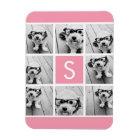 Create Your Own Instagram Collage Custom Monogram Magnet