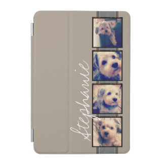 Create Your Own Instagram Collage - linen beige iPad Mini Cover