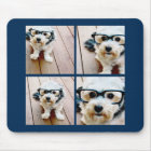 Create Your Own Instagram Collage Navy 4 Pictures Mouse Pad