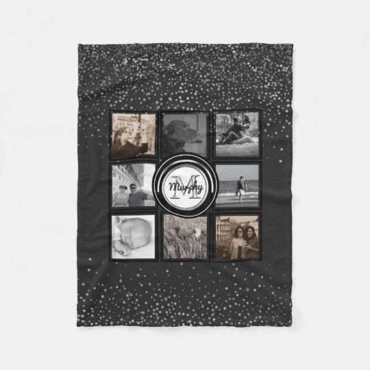 Create Your Own Instagram | Family Photo Collage Fleece Blanket