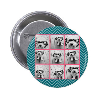 Create Your Own Instagram Photo Collage 9 photos 2 Inch Round Button