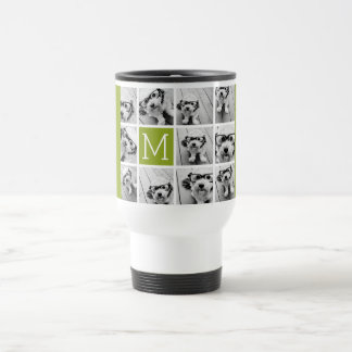 Create Your Own Instagram Photo Collage Lime Coffee Mugs