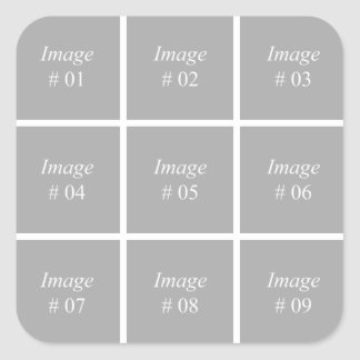 Create your own Instagram photo collection Square Sticker