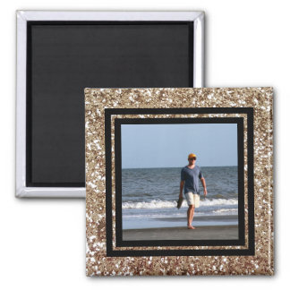 Create Your Own Instagram Photo | DIY Gold Glitter Square Magnet