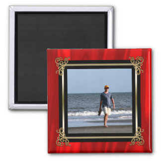 Create Your Own Instagram Photo | Elegant Red Silk Magnet
