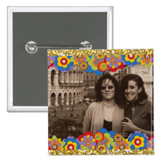 Create Your Own Instagram Photo Girly 2 Inch Square Button