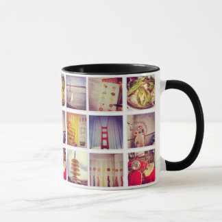 Create Your Own Instagram Ringer Coffee Mug
