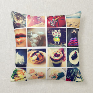 Create Your Own Instagram Throw Pillow