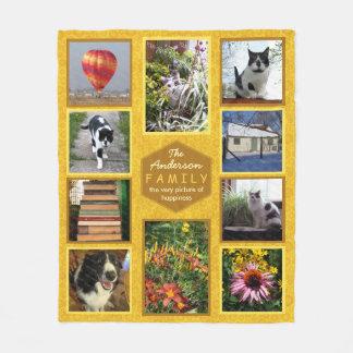 Create Your Own Instragram Photo Family Name Honey Fleece Blanket
