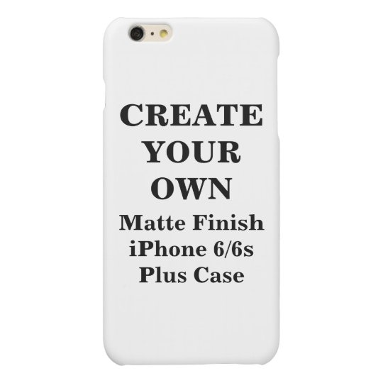 Create Your Own iPhone 6/6s Matte Finish Plus Case