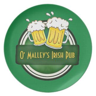 Create Your Own Irish Pub Logo Dinner Plates