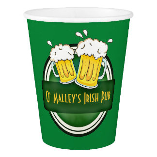 Create Your Own Irish Pub Logo Paper Cup
