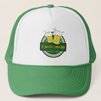 Create Your Own Irish Pub Logo Trucker Hat