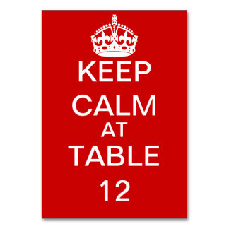 Create Your Own Keep Calm and Carry On Custom Table Cards
