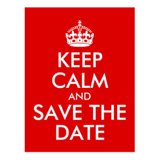 Create Your Own Keep Calm and Save the Date Postcard