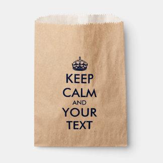 Create your own KEEP CALM Favour Bag