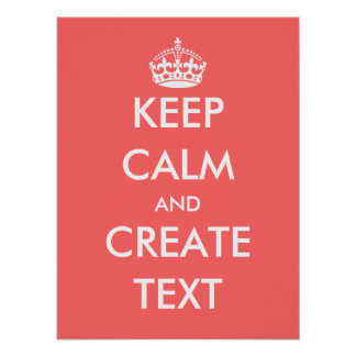 Create your own Keep calm poster | Coral pink
