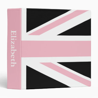 Create Your Own Light Pink Union Jack Binder