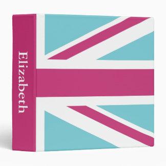 Create Your Own Magenta Union Jack Vinyl Binder