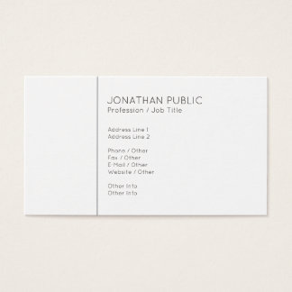 Create Your Own Minimalist Modern Grey White Business Card