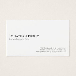 Create Your Own Minimalistic Modern Elegant White Business Card
