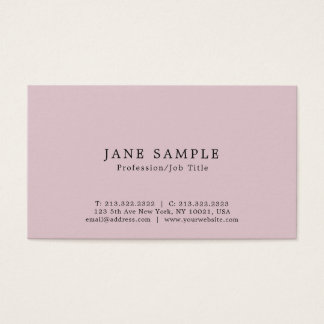 Create Your Own Modern Elegant Clean Design Business Card