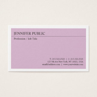 Create Your Own Modern Elegant Design Simple Plain Business Card