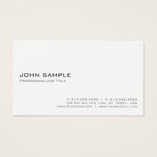 Create Your Own Modern Elegant White Minimalist Business Card
