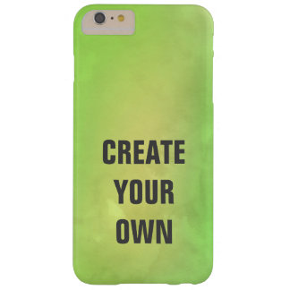 Create Your Own Modern Green Watercolor Painting Barely There iPhone 6 Plus Case