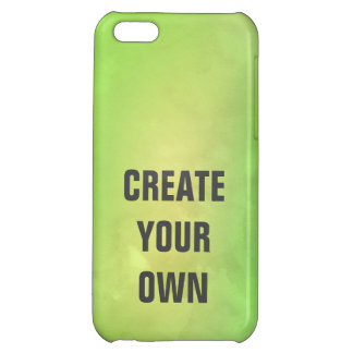 Create Your Own Modern Green Watercolor Painting Case For iPhone 5C