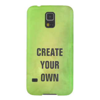 Create Your Own Modern Green Watercolor Painting Galaxy S5 Cover