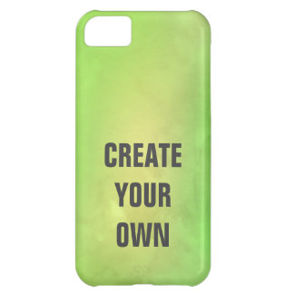 Create Your Own Modern Green Watercolor Painting iPhone 5C Covers