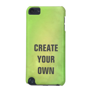 Create Your Own Modern Green Watercolor Painting iPod Touch 5G Covers