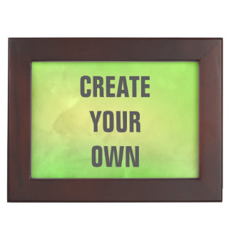 Create Your Own Modern Green Watercolor Painting Keepsake Box