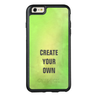Create Your Own Modern Green Watercolor Painting OtterBox iPhone 6/6s Plus Case